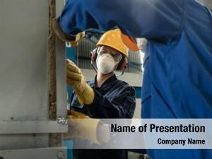 Two blue collar powerpoint background