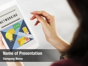 Internet networking powerpoint template