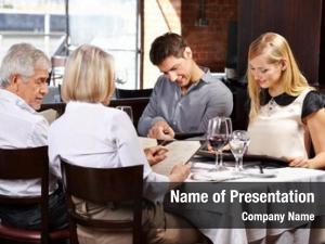 Restaurant family in laws reading menu