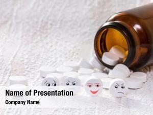 Face tablets smiley medical bottle