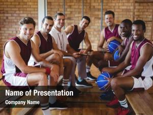 Coach portrait smiling basketball