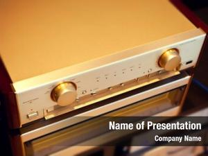 Two amplifier powerpoint theme