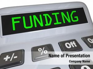 Funding word powerpoint theme