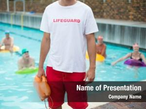 Male mid section lifeguard