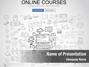 Concept online courses business doodle