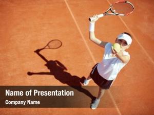 Player female tennis serving tennis