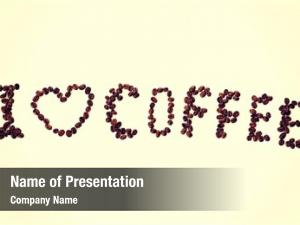 Coffee inscription of roasted