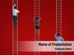Ladder climbing corporate business concept