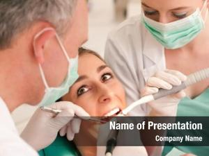 Dentist female patient assistant dental