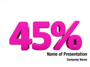 Percent pink 45% discount sign,