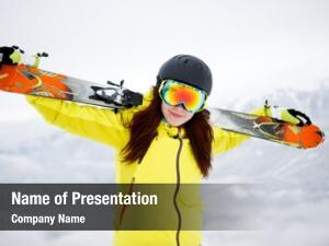 Winter skier, skiing, sport portrait