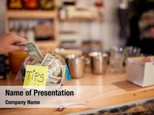 Left tips money employee coffee