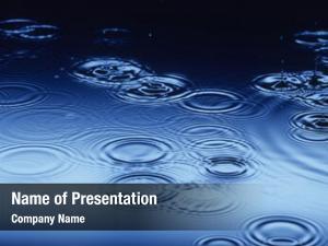 Splashing water drops making ripples