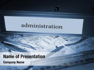 Blue word administration business binder