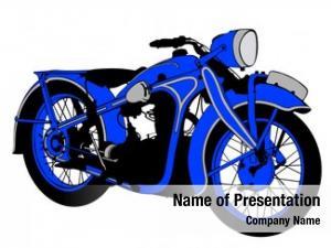 Motorcycle retro sport white