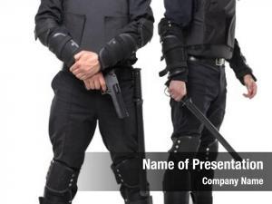 Baton police gun white