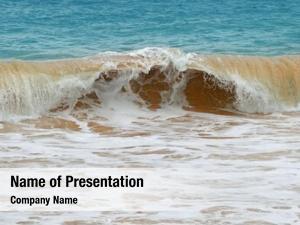 Yellow waves sea sand
