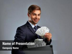 Holding elegant man case money