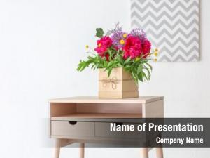 Beautiful gift box floral composition