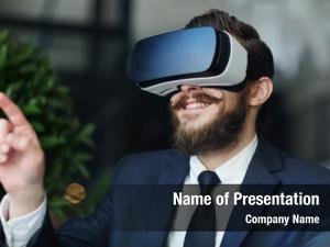 Suit happy man headset gaming