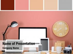 Color palette salmon modern workplace