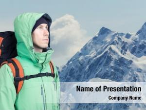 Looks man alpinist