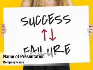 Arrow success failure down word