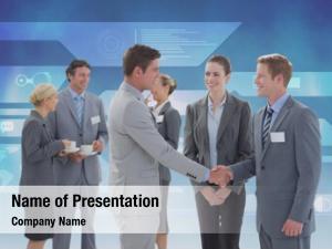 Business digital composite dealing concept