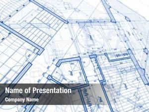 Blue architecture design: plan plan