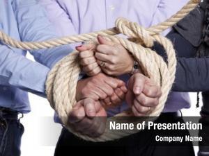 Arrested group hands rope