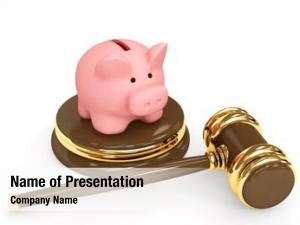 Piggy judicial gavel bank