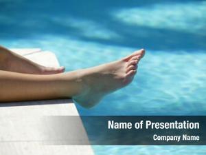 Poolside feet woman
