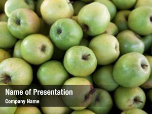 Apples fresh green market