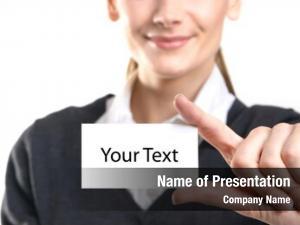 Visit business woman card