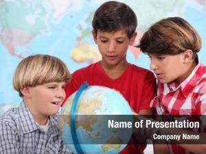 Learning three kids geography