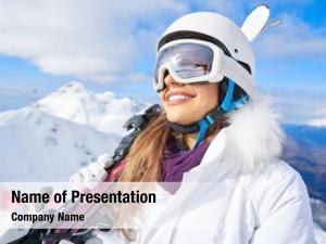 Winter skier, skiing, sport portrait