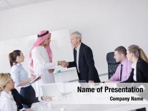 Handsome business meeting young arabic