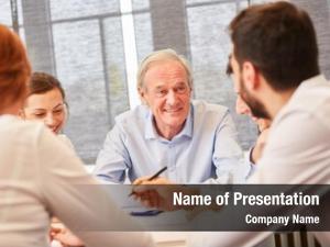 Entrepreneur senior consultant business meeting
