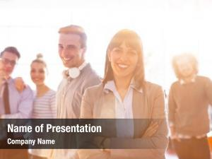Presentation business group successfull