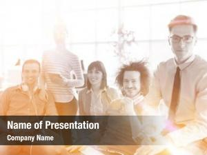 Group of successfull powerpoint template
