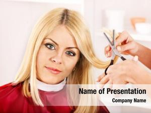 Salon woman hairdressing hair style