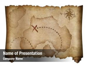 Treasure old pirates map