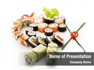 Different sushi set types maki