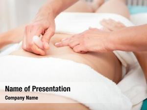 Stomach woman lying female masseuse