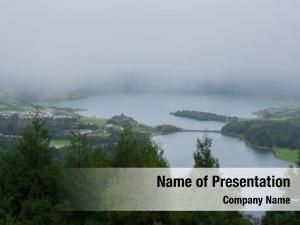 Lake picturesque view sete cidades