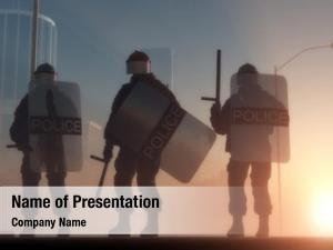 Guns group policemen sun