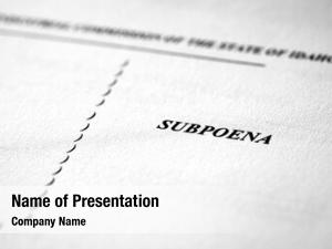 Legal subpoena court documents law
