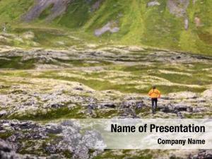 Man trail running nature landscape
