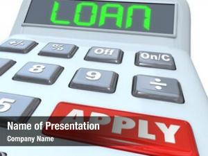 Loan calculator word red button