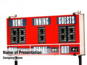 Sky baseball scoreboard game day